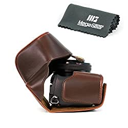 MegaGear 'Ever Ready' Protective Leather Camera Case, Bag for Sony Alpha A6000 with 16-50mm (Dark Brown)