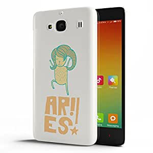 Koveru Designer Printed Protective Snap-On Durable Plastic Back Shell Case Cover for Xiaomi Redmi 2 - Aries