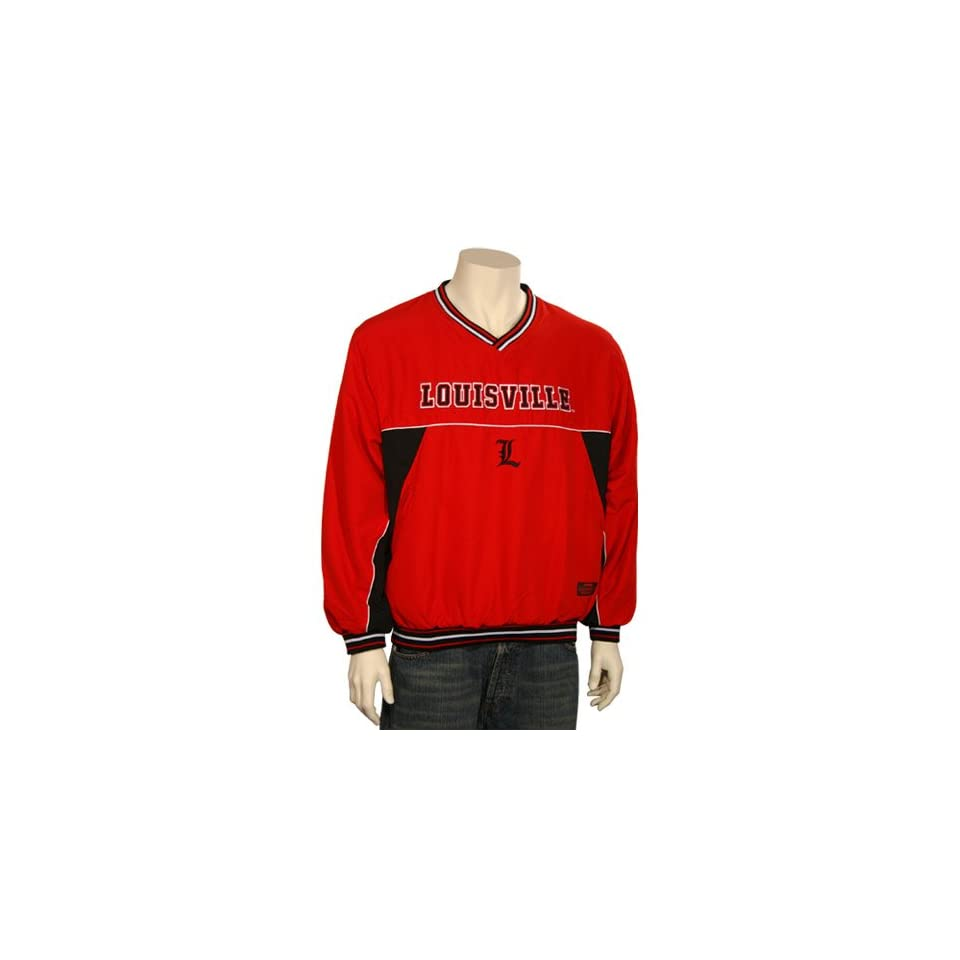 Louisville Cardinals Red Time Out Pullover Jacket