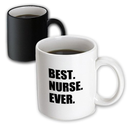 3Drose Mug_179785_3 Best Nurse Ever Worlds Greatest Nursing Staff Worker Fun Nurses Day Magic Transforming Mug, 11-Ounce