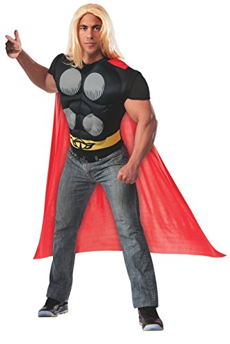 Rubie's Costume Men's Marvel Universe Thor Muscle Chest T-Shirt and Cape