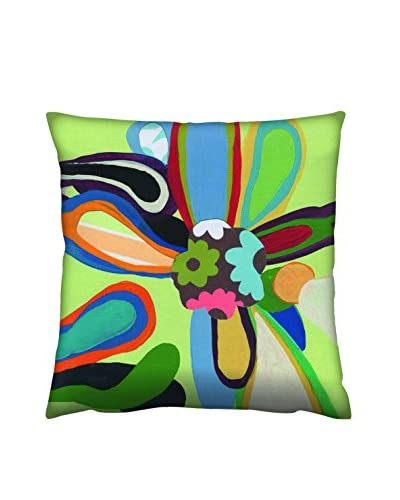 Gravel Abstract Floral Print Throw Pillow, Multi