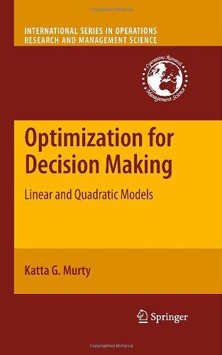Optimization Models For Decision Making