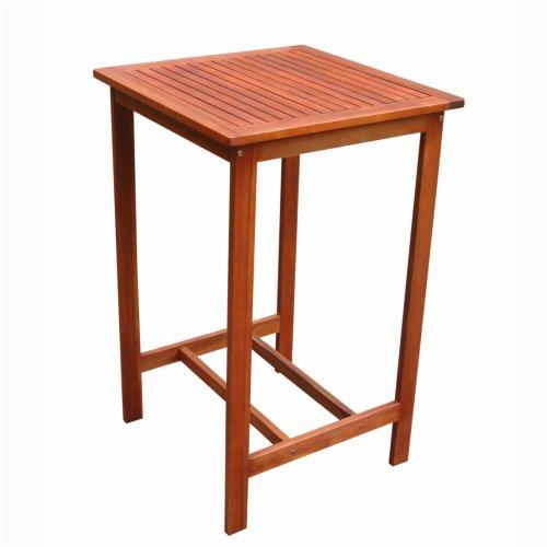 VIFAH V495T Dartmoor Outdoor Wood Bar Table