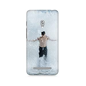 Motivatebox - Guy Bathing In Sea Water Splash Asus Zenfone Go cover - Matte Polycarbonate 3D Hard case Mobile Cell Phone Protective BACK CASE COVER. Hard Shockproof Scratch-Proof Accessories
