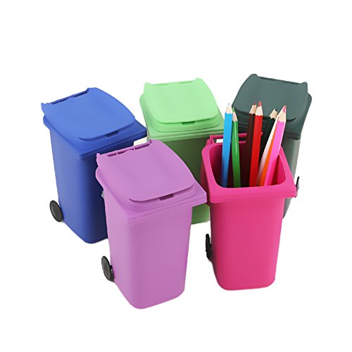 SZTARA Creative Mini Garbage Can Home Office Desk Pen Pencil Stationery Holder Storage Basket Case (Funny Trash Can compare prices)