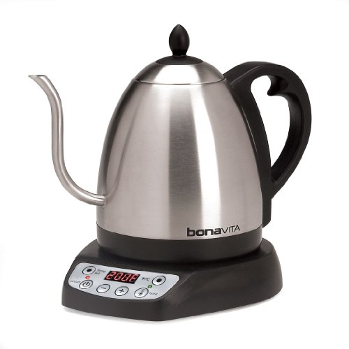 'Bonavita 1-Liter Variable Temperature Digital Electric Gooseneck Kettle' from the web at 'http://ecx.images-amazon.com/images/I/41bsrDphjLL.jpg'