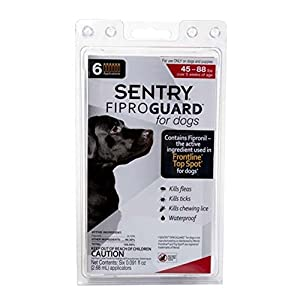 Sentry Fiproguard 6-Dose Flea and Tick Topical Drops for Dogs, 89 to 132-Pound