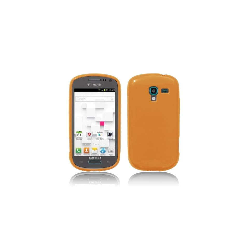 Samsung Galaxy Exhibit / T599 Orange Sorbet Cool TPU Silicone Protective Skin Phone Case by ThePhoneCovers