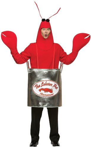 Lobster Pot Adult Costume, Standard, Red