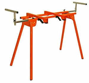 """Folding Miter Saw Stand PM-4000 Portamate - Heavy Duty 36"""" Work Height Miter Saw Stand with Quick Attach Mount, 13"""" Support T's and 500 lb. Capacity"""