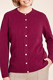 Classic Collection Pure Wool Pointelle Knitted Cardigan [T58-4060-S]