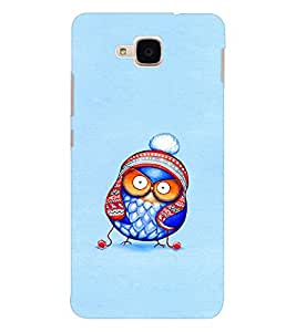 EPICCASE Curious owl Mobile Back Case Cover For Huawei Honor 5c (Designer Case)