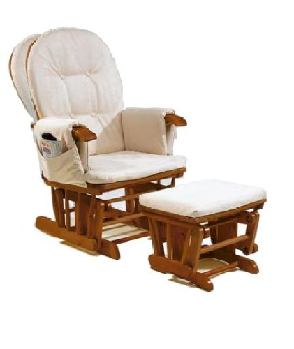 Rocking Chairs (UK): BABY GLIDER ROCKING RECLINER NURSING CHAIR IN ...