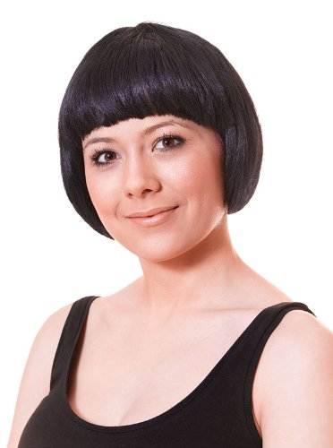 Bristol Novelty China Doll Black Budget Wig Wigs Women's One Size