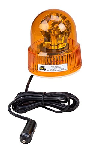 Wolo (3100-A) Beacon Light Rotating Warning Light - 12 Volt, Amber Lens