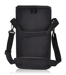Growler Carrier by LovIT- Insulated Beer Growler Cooler Bag for 64 Oz Beer Bottles (Black Bag 2.0) Universal Fit for All Sizes