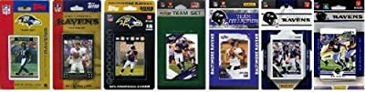 NFL Baltimore Ravens 7 Different Licensed Trading Card Team Sets