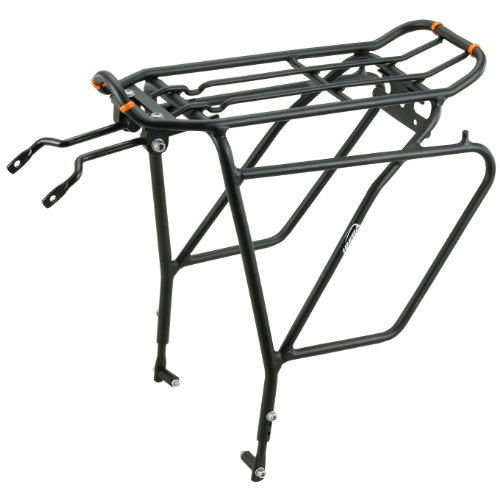 Ibera PakRak Bicycle Touring Carrier Plus+ IB-RA5 (with disk brake mounts) Frame-mounted for heavier top & side loads (bag not included)