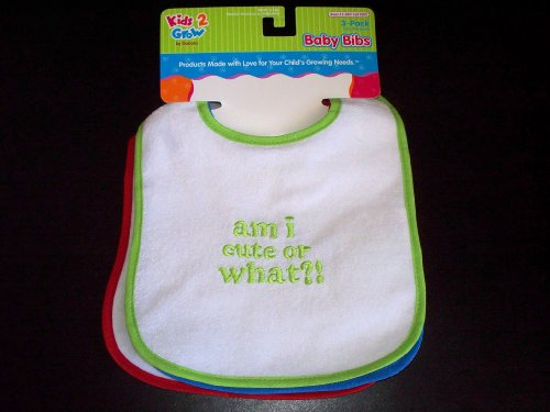 Kids 2 Grow 3-pack Baby Bibs