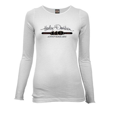Harley-Davidson® Women's 110th Anniversary Bar Logo Long Sleeve T-Shirt. Graphics. All Cotton. 302917640