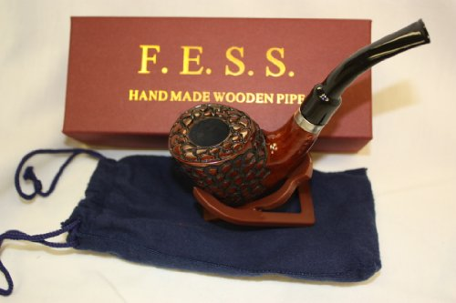 F.e.s.s. Freehand Rustic Carved Tobacco Pipe
