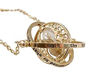 Harry Potter: Hermione Granger Time Turner Hourglass Charm Rotating Necklace