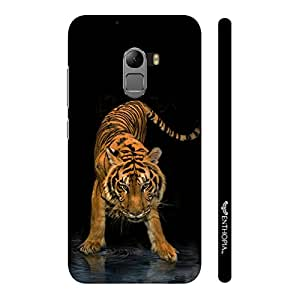 Enthopia Designer Hardshell Case Tiger in the Water Back Cover for Lenovo K4 Note
