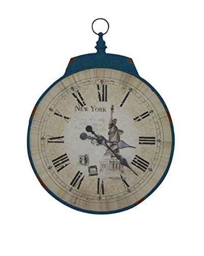 Contemporary Living  Reloj De Pared New York Azul