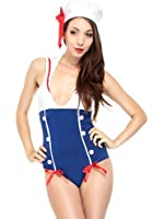 Simplicity Sexy Sailor Adult Costume, Pin Up Style with Bodysuit/ Hat