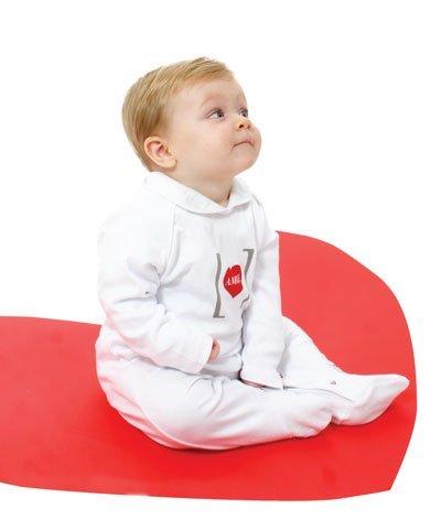 amore al cubo pigiamino invernale 9-12 mesi Tessuto Interlock Certificato dell'Istituto Internazionale Oeko-Tex