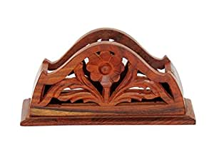 Pindia Wooden Dinning Table Decorative Napkin, Tissue Holder Stand