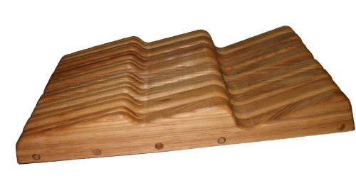 J.K. Adams 17-Inch-By-9-1/2-Inch Large Ash Wood Wave Knife Tray