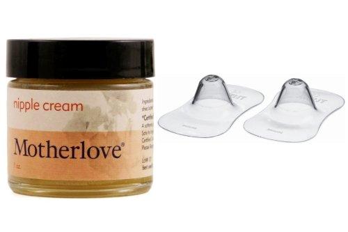 Motherlove Nipple Cream (1Oz) With Nipple Protector, Standard