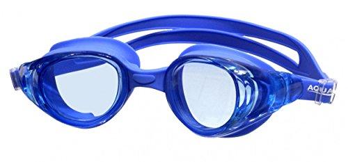 Aqua Speed® Moon Monoblock Silikon Schwimmbrille Goggle Sicherheitsglas AntiFog UV