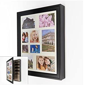 wood collage photo frame jewelry wall cabinet