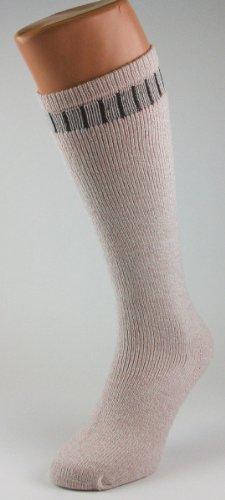 Ladies Wellington Wool Blend Ribbed Knee High Beige Boot Socks UK Size 47