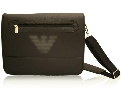 Messenger Bag / Briefcase in Black - Medium