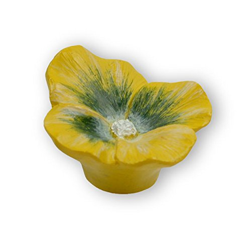 mobelknopf-thale-pflanze-blume-kinder-kunststoff-gelb
