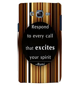 PRINTVISA Quotes Inspiration Case Cover for Samsung Galaxy J7