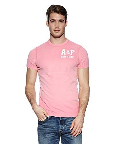 Abercrombie & Fitch Camiseta Maiwen Fucsia