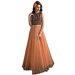 bridal collection peach fancy Embroidered gown
