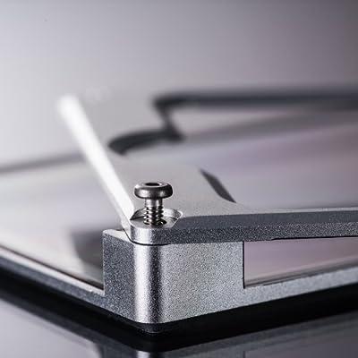 iPhone5 ハイブリッド アルミ+ポリカーボネート アルミバンパー 液晶保護フィルム付き シルバー aglowDESIGN