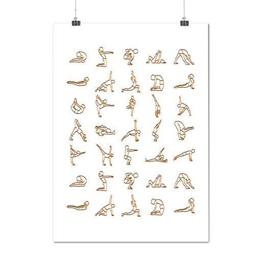 Yoga posizione Manuale Lavoro Su Opaco/Lucida Poster A2 (60cm x 42cm)   Wellcoda