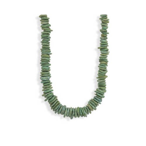 CleverSilver's Graduated Green Stone Fashion Necklace