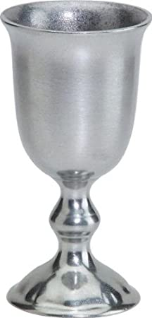 English Hand Crafted Statesmetal Set of 2 Drinking Goblets by CC Home Furnishings