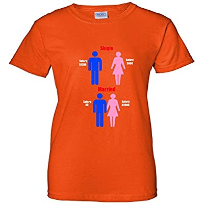 Single Married Salary Wages Women's T-Shirt