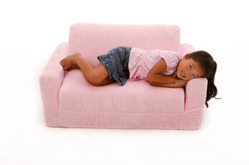 Fun Furnishings  Sofa Sleeper, Pink Chenille