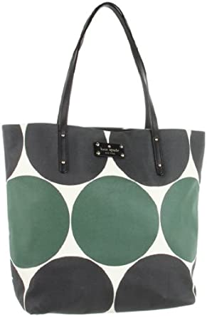 Kate Spade New York Deborah Dot-Bon  Tote,Green/Black,One Size