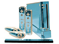 Nintendo Wii Skin New Sky Chrome Mirror System Skins Faceplate Decal Mod